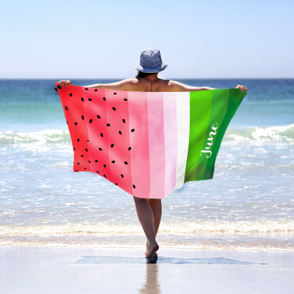 1_Beach Towel – watermelon 60x30in – website